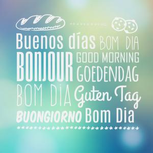 buongiorno in tutte le lingue