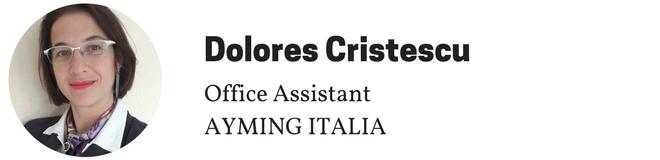 Dolores Cristescu, Assistente dell'anno, Ayming Italia