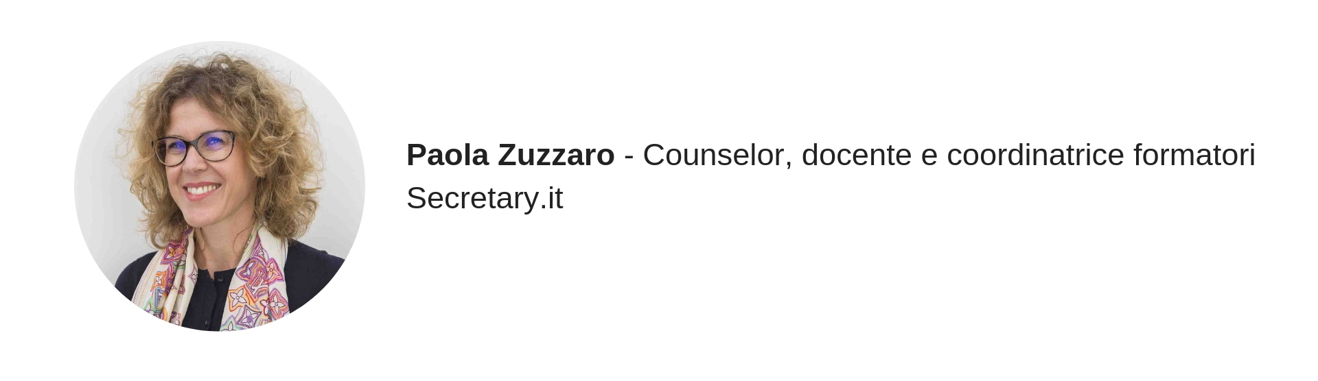Paola Zuzzaro, trainer Secretary.it