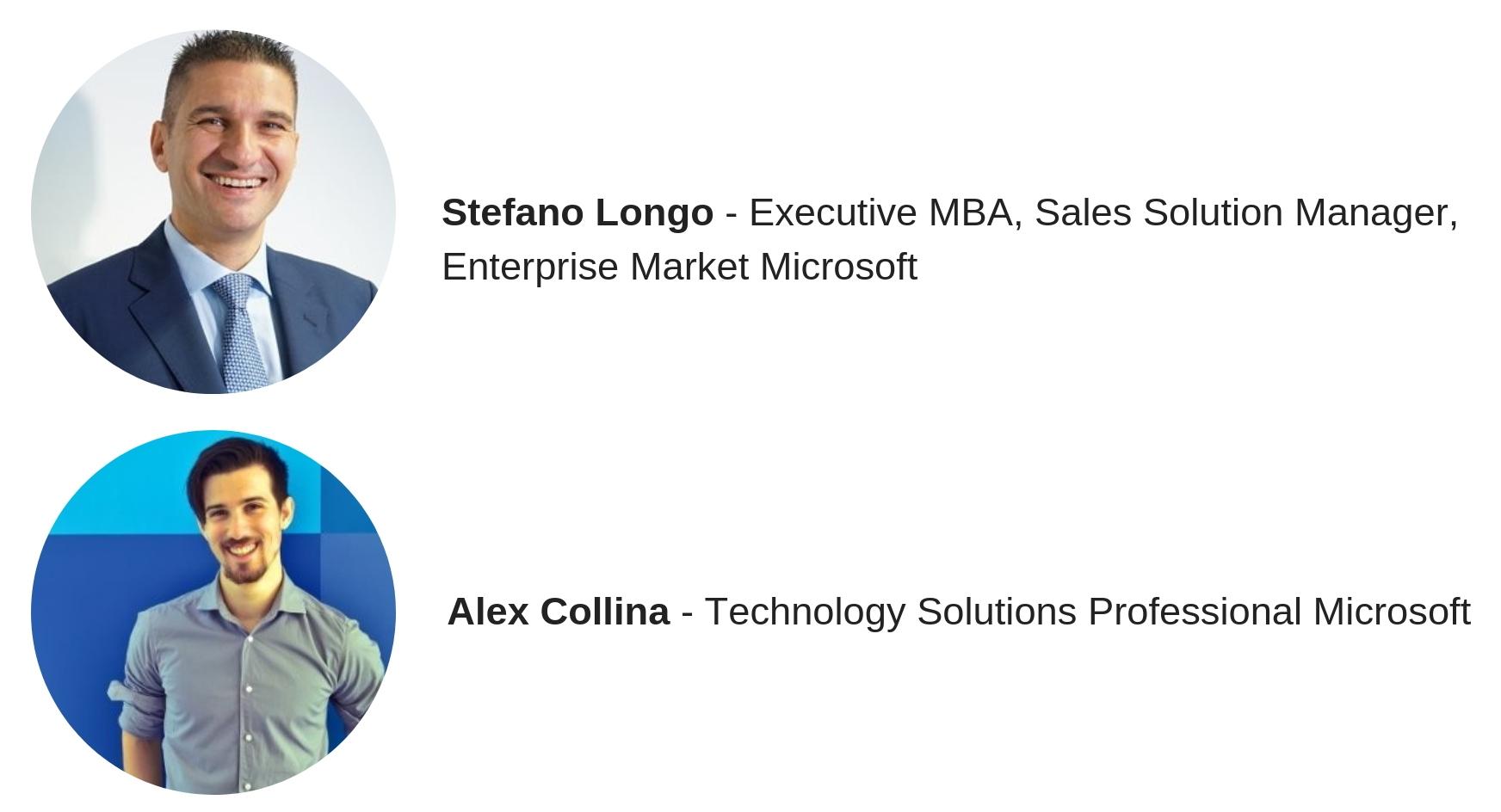Stefano Longo e Alex Collina Microsoft